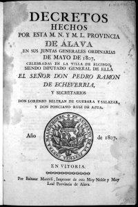 1807.- Las Juntas Generales de Alava del mes de Mayo se celebraron en Elciego